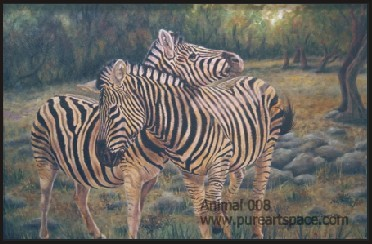 zebra oil paintings
