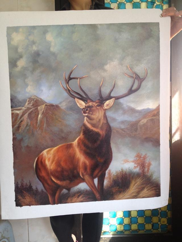 Deer Art Painting