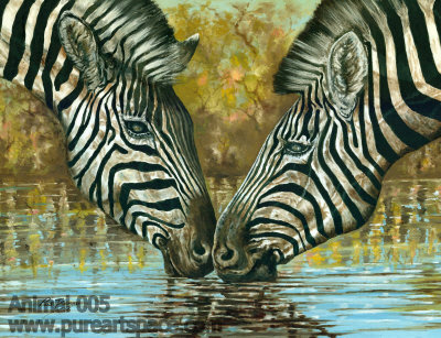 zebra oil painting - photo #28