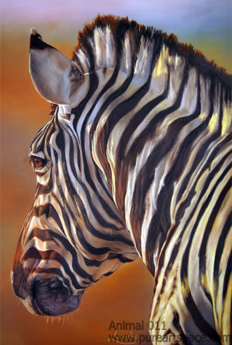 zebra oil painting - photo #19