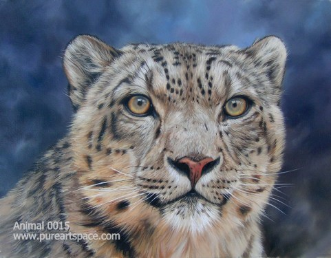 Snow leopard paintings