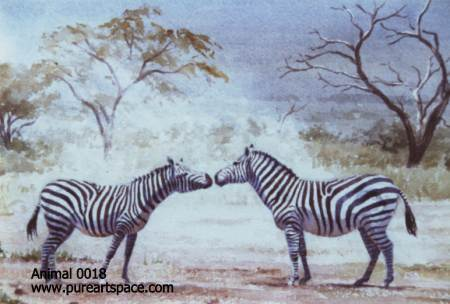 Animal oil paintings-zebra paintings