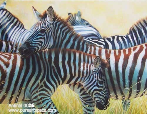 Zebra art paintings